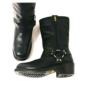 Rocky Men's Gore-tex Harness Biker Boots 8.5E